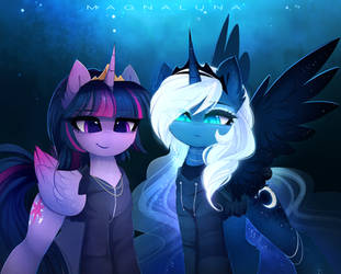 Cool ponies by MagnaLuna