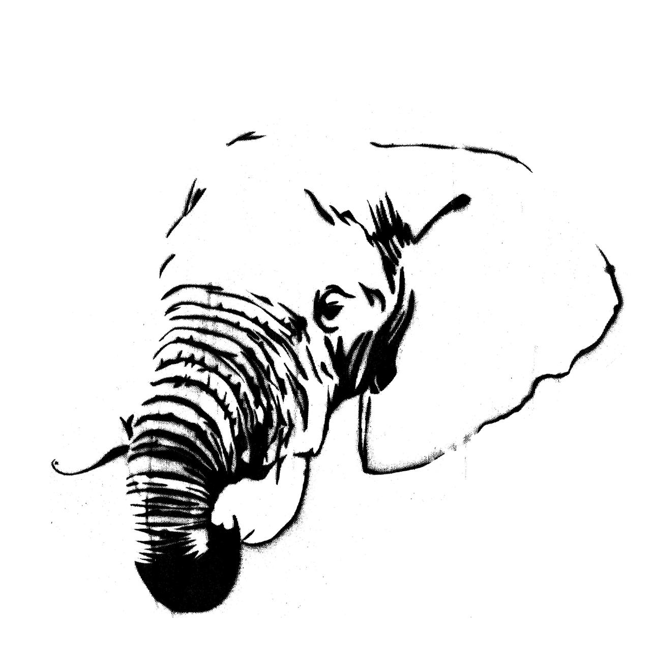 Refreshing image throughout printable elephant stencil