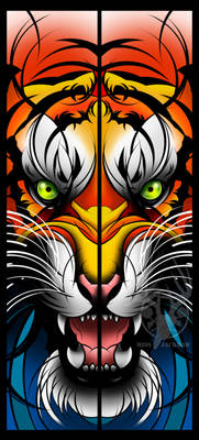 Tiger Card Bookmark Thingy