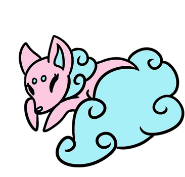 Double Cotton Candy Sugar Fox (CLOSED) by Sugar-Foxes