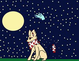 Foxtober 2018 Day 5: Moonlit
