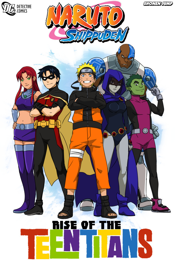 NarutoXTeen Titans comic Cover: by SpicyTaco1