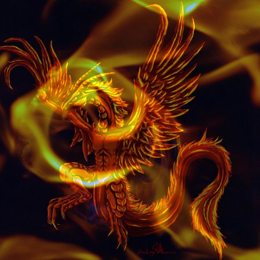 gold fire dragon ii by opheliaarts on deviantart