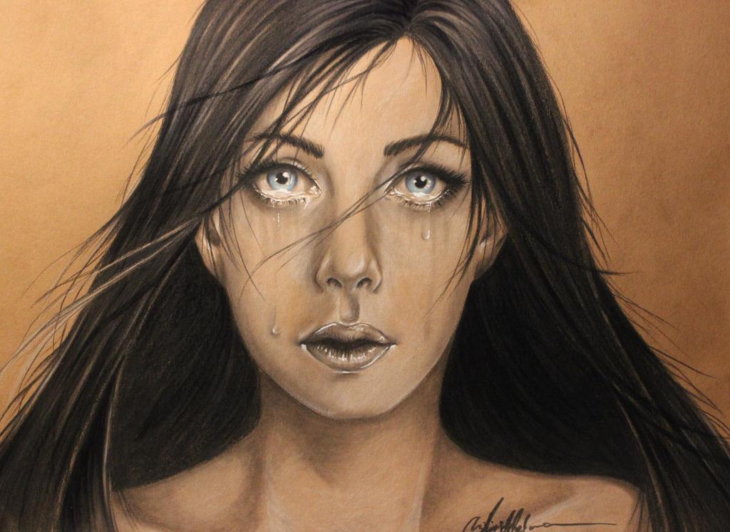 Silent cry - Portrait by JenovaTheGoddes