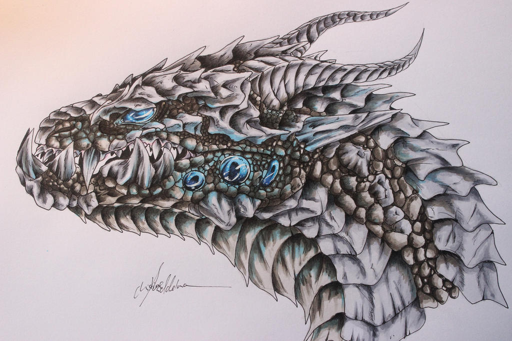Dragon head concept by JenovaTheGoddes