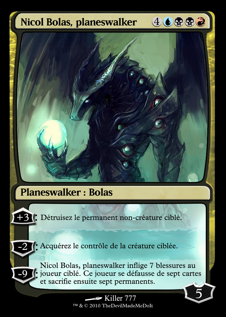 MTG : Nicol Bolas planeswalker by ~Hyperespace on deviantART