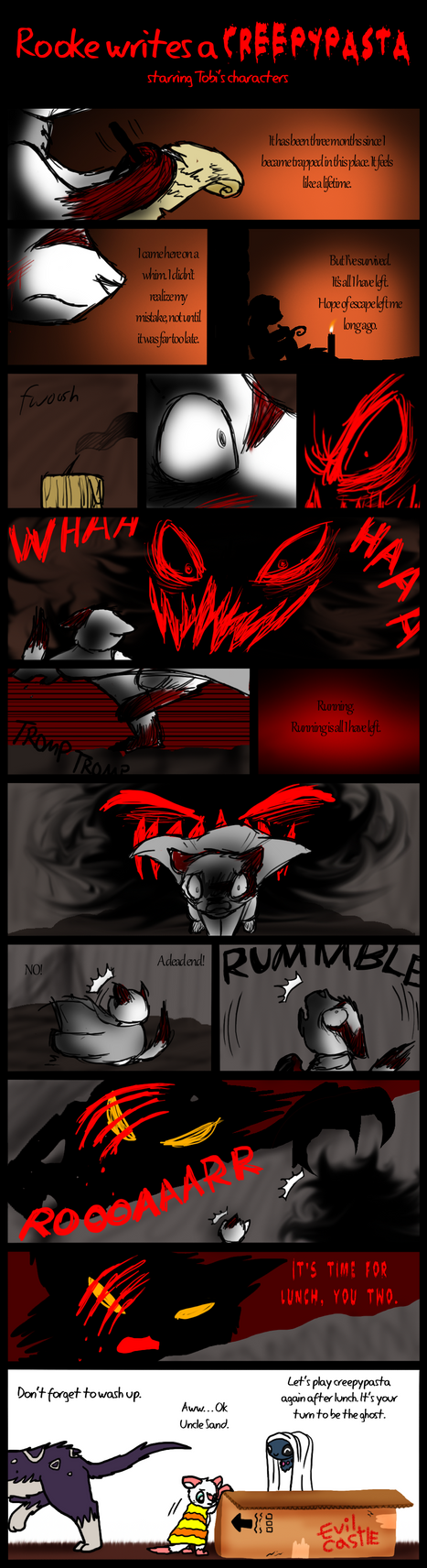 Rooke Writes a Creepypasta by DragonwolfRooke