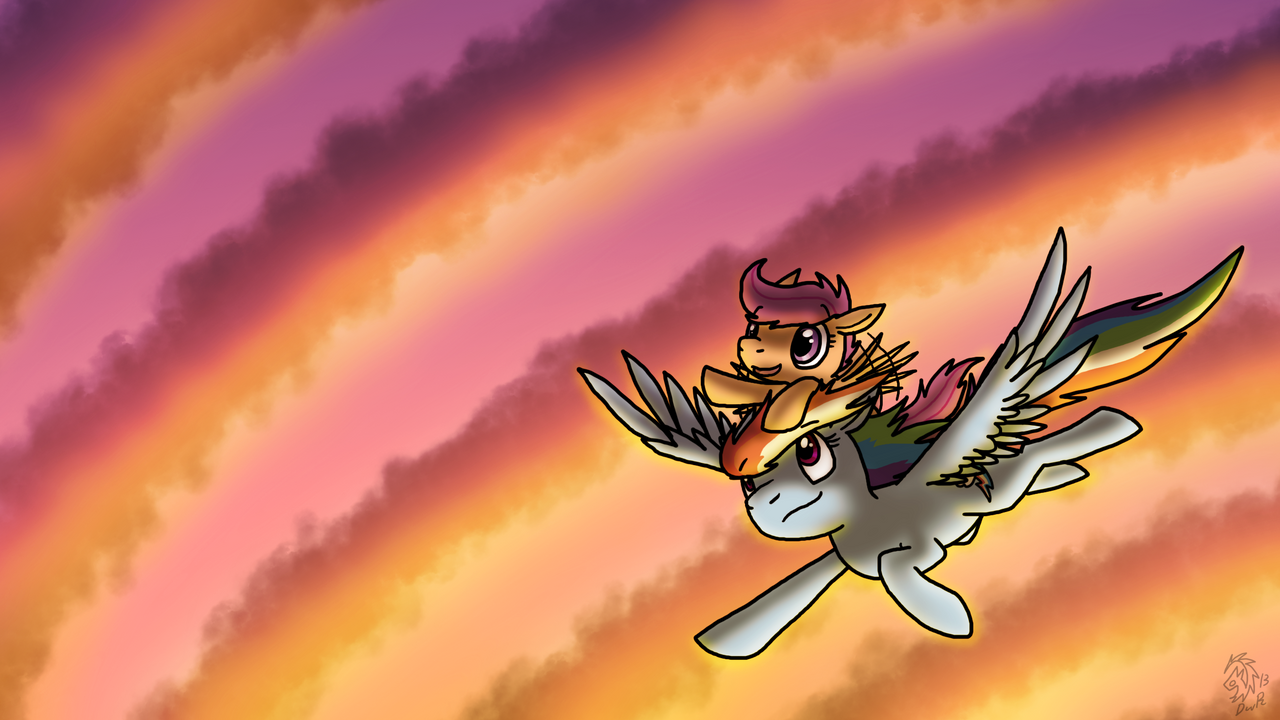 Wings Of The Rainbow by DragonwolfRooke