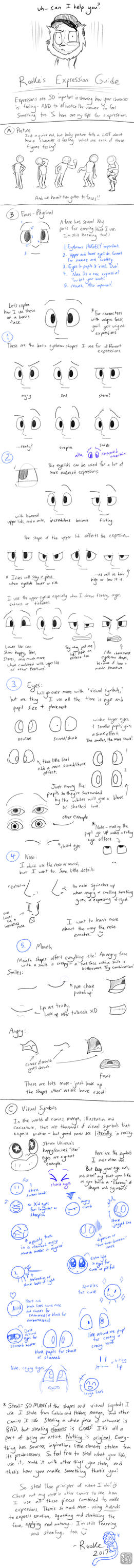Expressions Tutorial by DragonwolfRooke