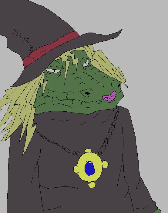 Alligator Witch by Zulium