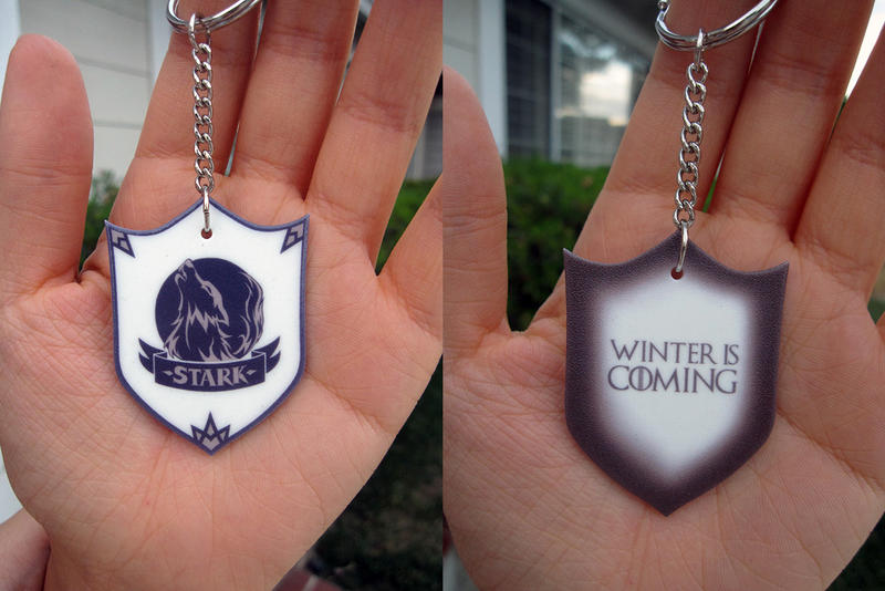 Game of Thrones Stark Key Chain Give-Away! by Red-Crane