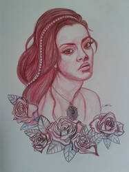 Roses - pencils on paper by doom-chris