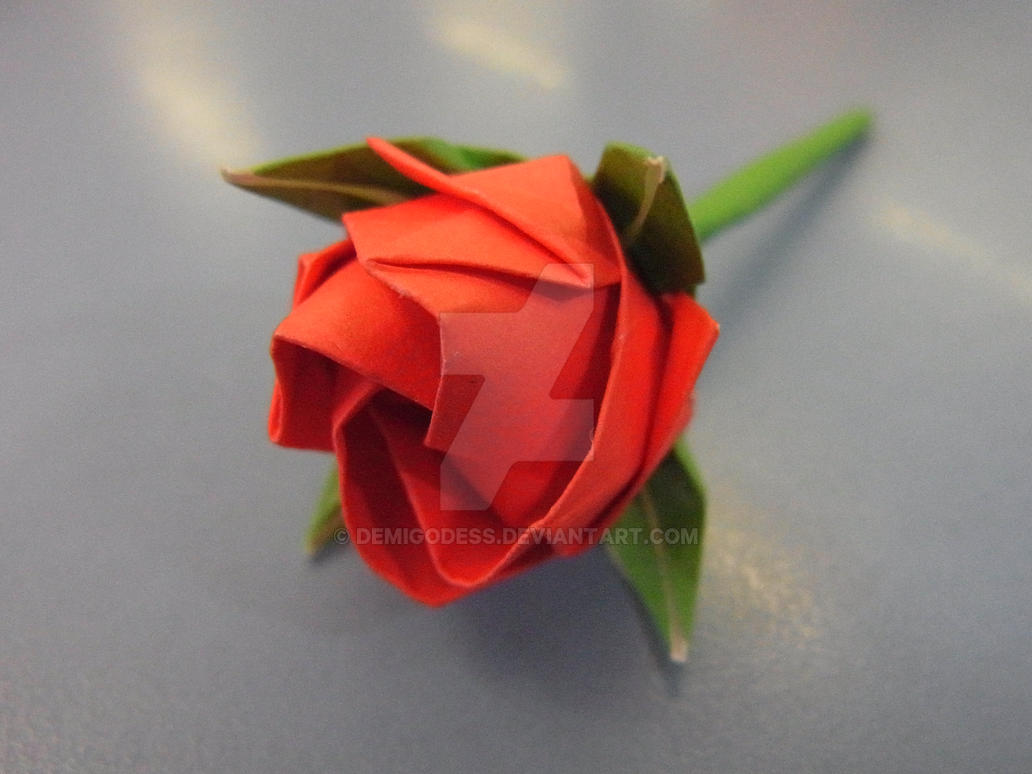 Origami Rose by demigodess on DeviantArt - photo#21