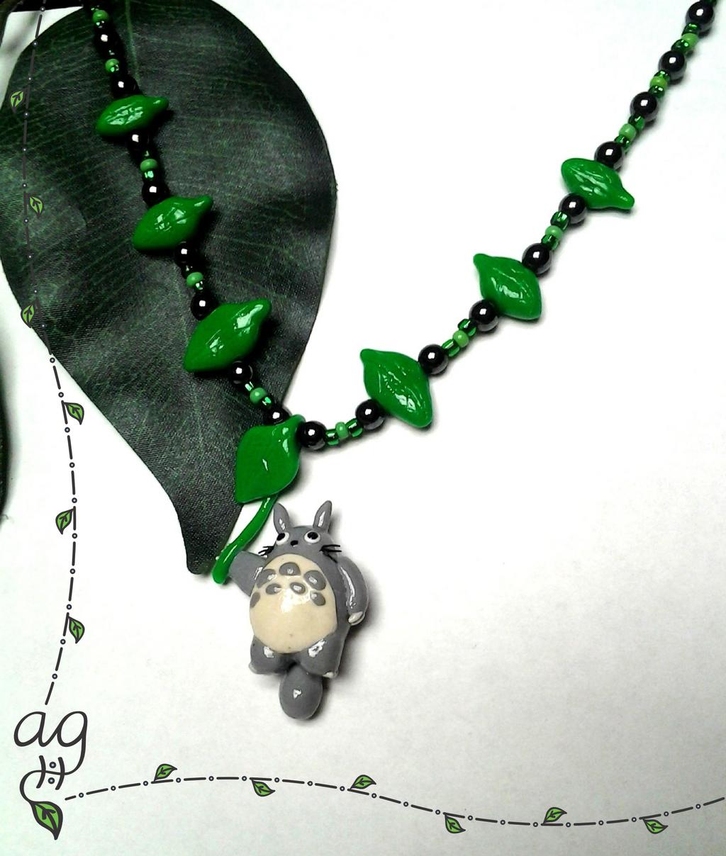 Totoro Leaf Necklace by altaiira on DeviantArt