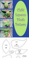 Chibi Espeon Plush Pattern
