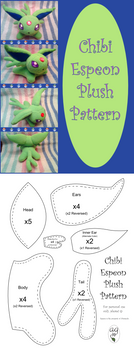 Chibi Espeon Plush Pattern by altaiira