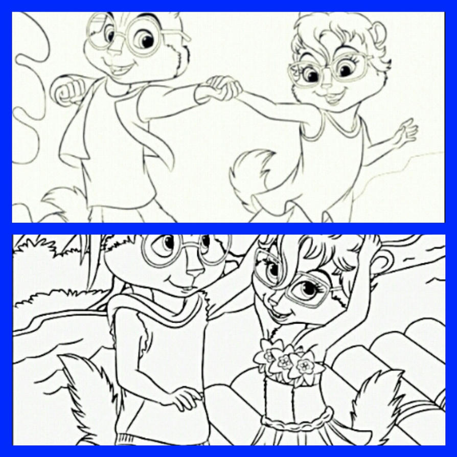free printable chipettes coloring pages - photo#17