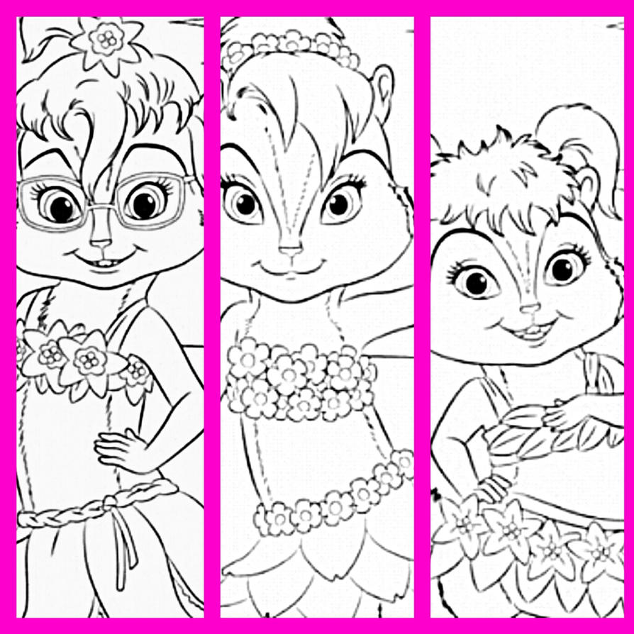 free printable chipettes coloring pages - photo#10