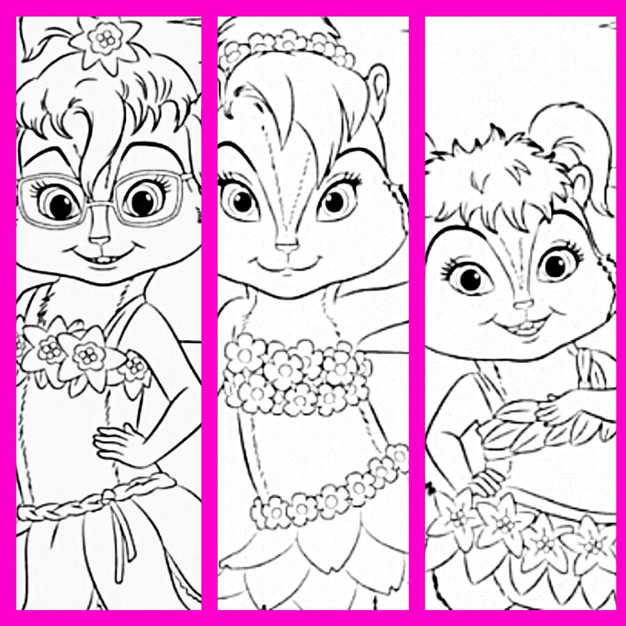 Chipettes chipwrecked coloring by yanamaisarah4 on deviantart for Chipettes coloring pages to print