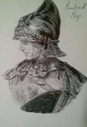 Rembrandt armor study in ball point by BeautyIsWhatWinsLove