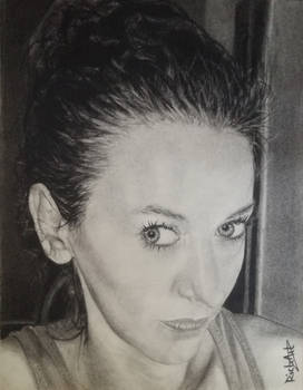 Andra, in charcoal