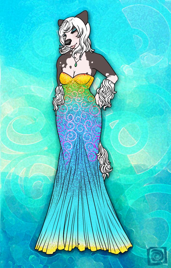 Aqua Maiden by celestialsunberry