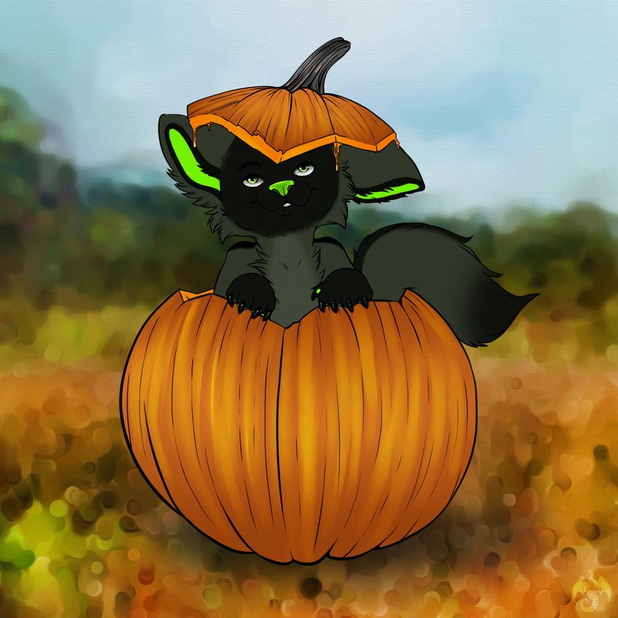 Mega Cute Pumpkin by celestialsunberry