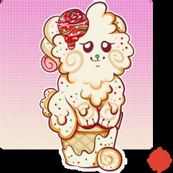 Christmas Vanilla Cupcake Conebun - RAFFLE - CLOSE