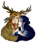 Cernunnos and Cerridwen by Horned-Lyzz