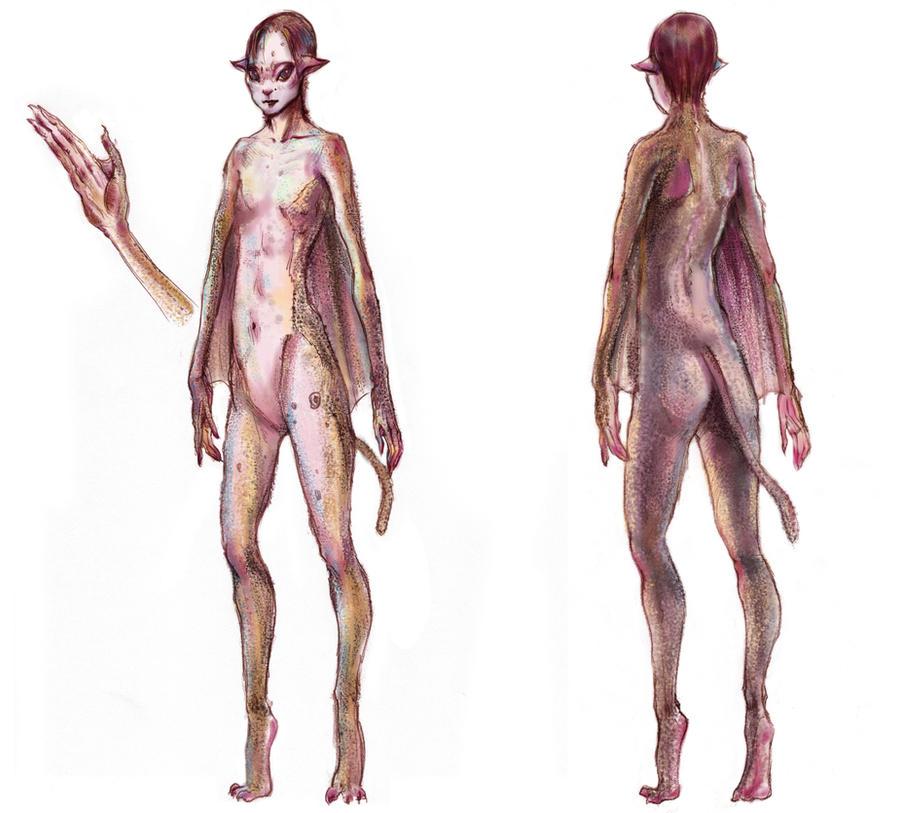 Splice Creature-Hume Concept by TanzerDragon