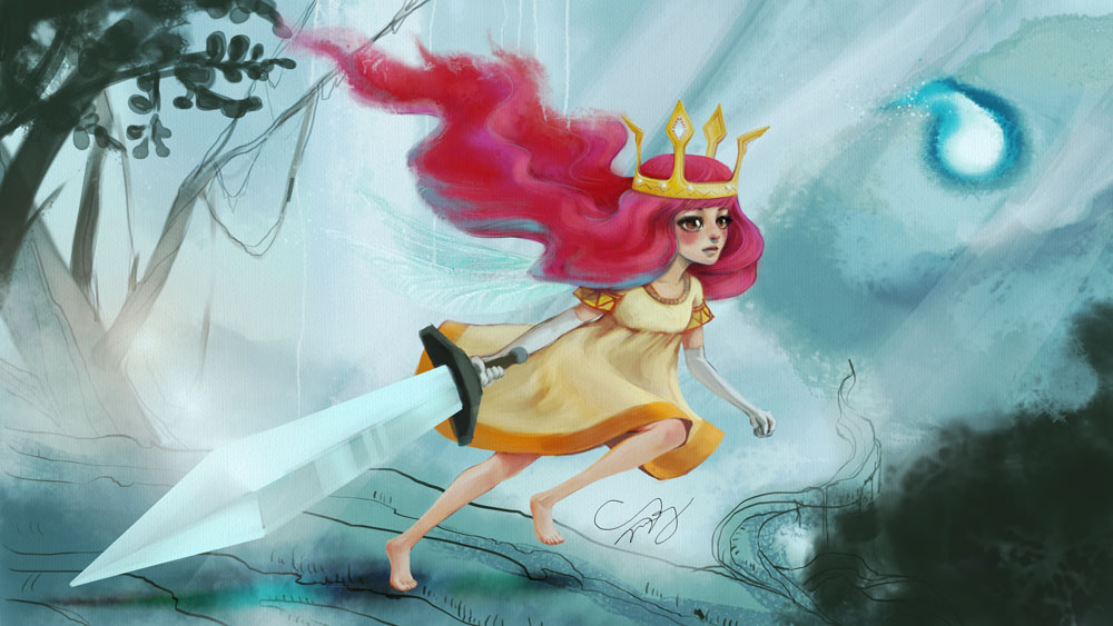 Child of Light - Running through the Forest by TanzerDragon
