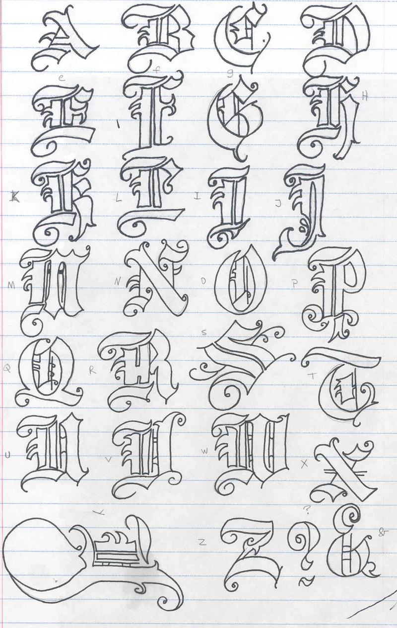 http://soranisasayaku.deviantart.com/art/Old-English-Letters-276512074
