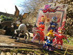 Viewtiful Joe Action Figures - Family Portrait by buzzthebatgirl
