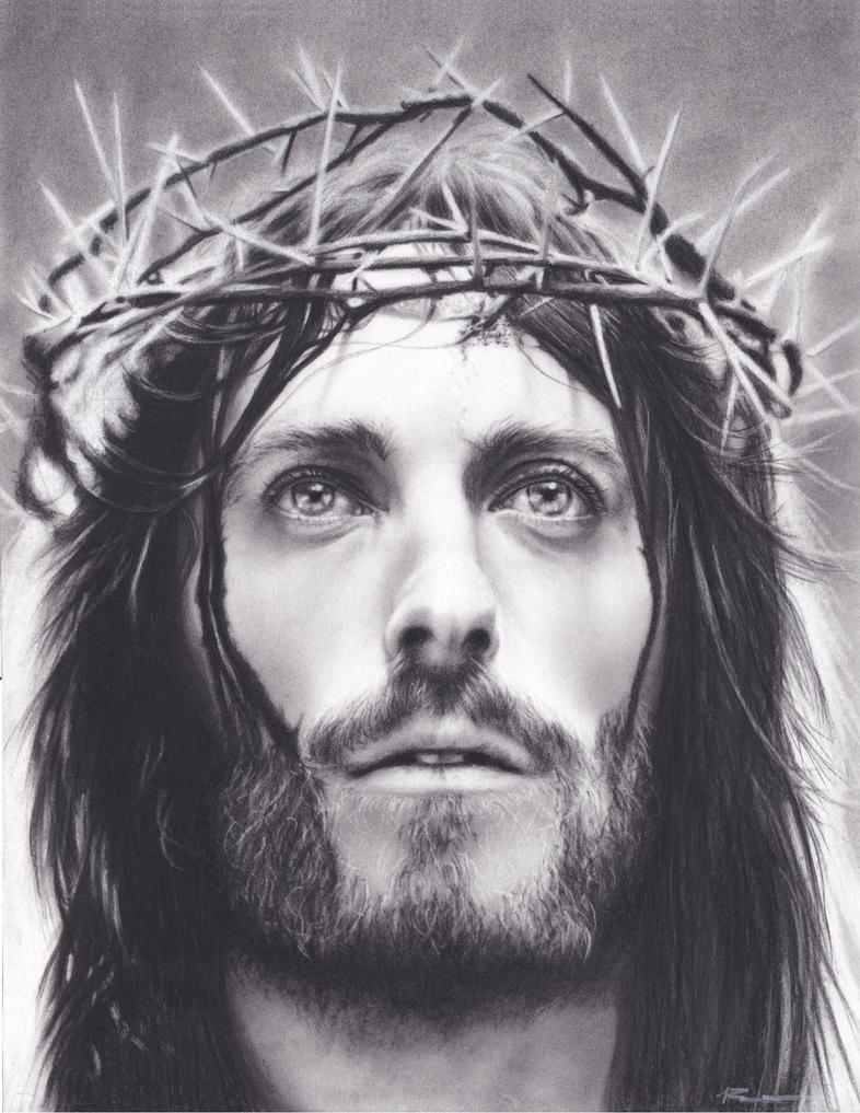 Line Drawing Of Jesus Face : Jesus christ commission by xabigal eyesx on deviantart