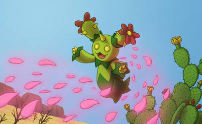 Maractus used Petal Dance by PokeGirl5