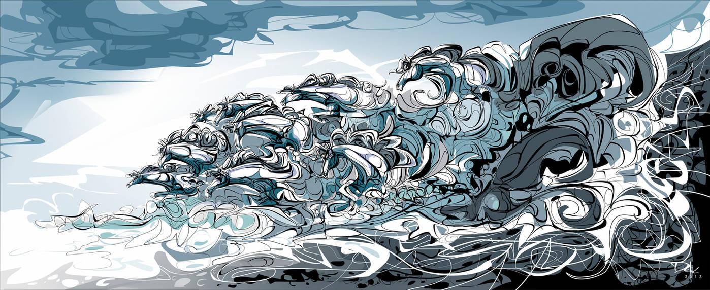 The Flood Of Bruinen by dejan-delic