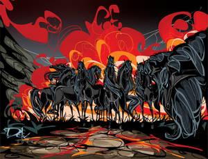 The Black Riders horses by dejan-delic