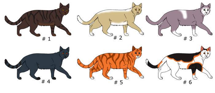 Cat Adoptions .. OPEN .. Each 3 P