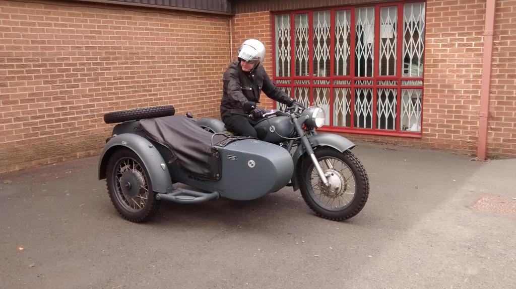 Old BMW Sidecar Outfit by kimberleyblackstar