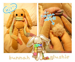 Bunnah - Plushie Version by SakuraCherrie