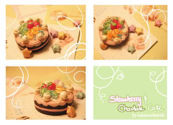 Strawberry and Chocolate Cake by SakuraCherrie