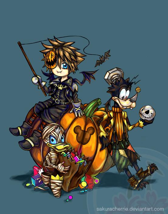 Kingdom Hearts - Halloween by SakuraCherrie