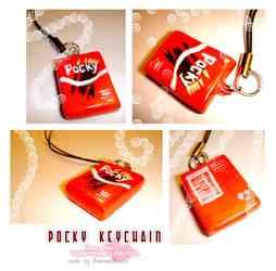 Pocky Charm keychain