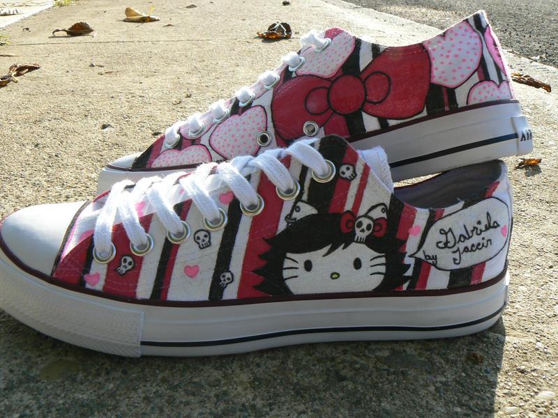 Gothic Converse Shoes