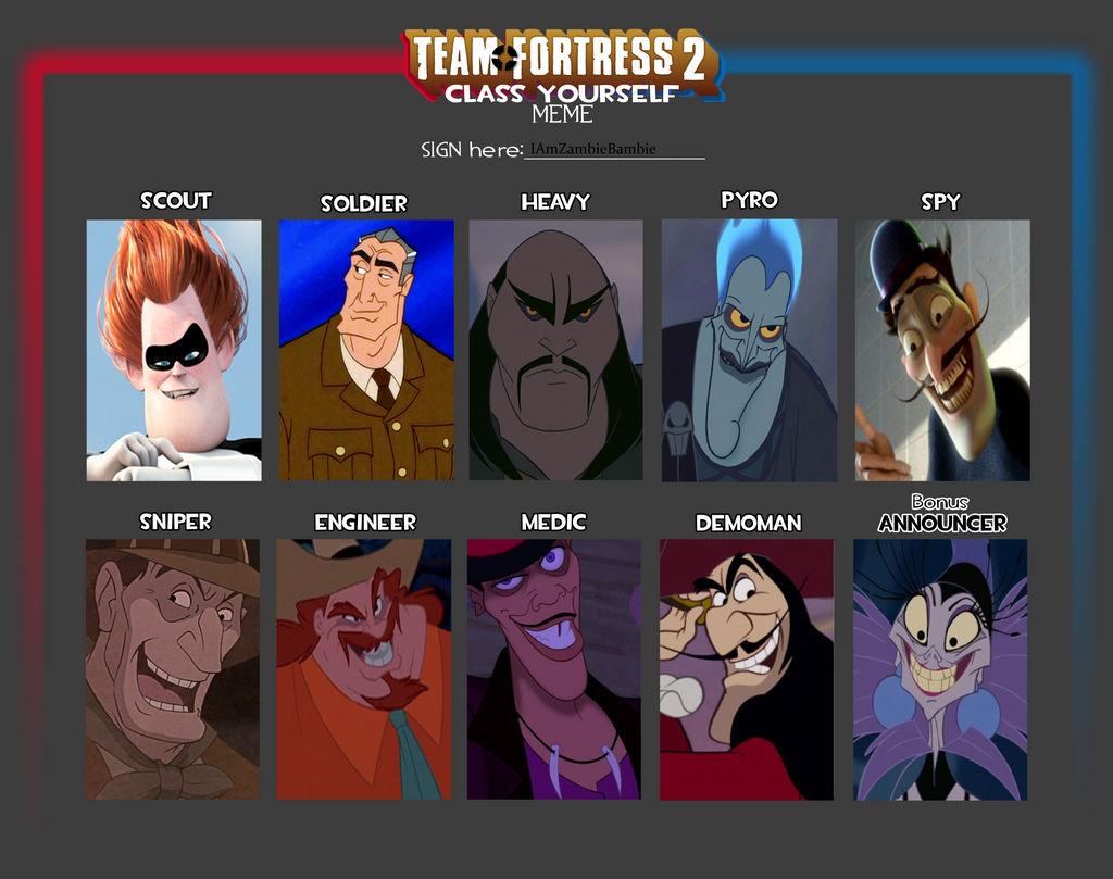 Team Fortress 2 Meme Disney Villains Edition By Buttscottchpiie