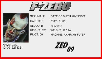 F-Zero License - Zed