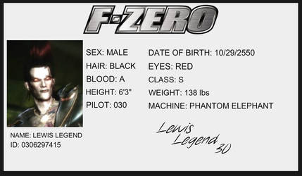 F-Zero License - Lewis Legend