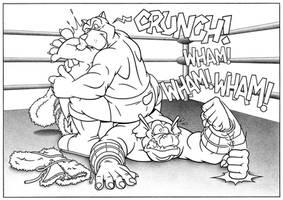 Ogrokh vs Hound by MatthewSmith