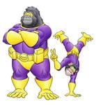 Commission: Simian Superheroes