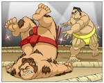 Commission: Sumo vs Werebear